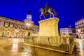 Puerta del sol in madrid spain dawn scene at Stock Photography