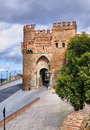 Puerta del sol one gates to medieval city toledo spain Royalty Free Stock Image