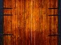 Puertas de madera Fotos de archivo libres de regalías