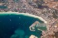 Puerto Alcudia aerial Royalty Free Stock Photo