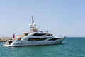 PUERTO BANUS ANDALUCIA/SPAIN - MAY 26 : View of a Luxury Yacht L Royalty Free Stock Photo