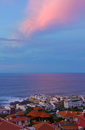 Puerto de la Cruz at sunset, Tenerife, Spain Royalty Free Stock Photography