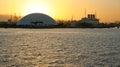 Puerto de reina mary sunset de long beach Imagen de archivo libre de regalías