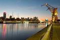Puerto Madero (harbor) modern part of Buenos Aires Argentina Royalty Free Stock Photo