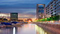 Puerto madero at night neighborhood buenos aires argentina Royalty Free Stock Images