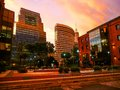 Puerto madero sundown at in buenos aires argentina Stock Photo