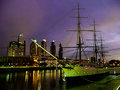 Puerto madero sundown at in buenos aires argentina Royalty Free Stock Photography