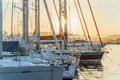 Puerto para los barcos Imagen de archivo