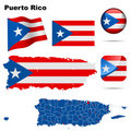 Puerto Rico set. Royalty Free Stock Photography