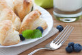 Puff pastry with blueberries Royalty Free Stock Photography