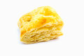 Puff pastry on isolate white backgroud Stock Photos