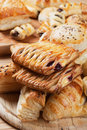 Puff pastry with jam filling Royalty Free Stock Images
