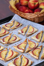 Puff pastry with nectarines Stock Photos