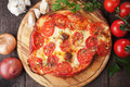 Puff pastry pizza Royalty Free Stock Photo