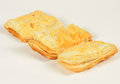 Puff pastry sweet on white background Royalty Free Stock Photography