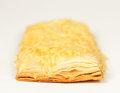 Puff pastry sweet on white background Royalty Free Stock Images