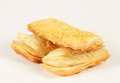 Puff pastry sweet on white background Stock Photos