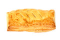 Puff pastry on the white background Stock Photography