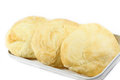Puff pastry on the white background Royalty Free Stock Photo