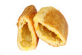 Puff pastry on the white background Royalty Free Stock Photography