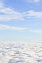 Puffy cloud white layer and light blue sky Royalty Free Stock Images