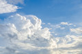 Puffy clouds and blue sky in sunny day Royalty Free Stock Image