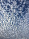 Puffy clouds fun shaped Royalty Free Stock Photos