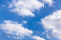 Puffy clouds sky shiny atmosphere Stock Photography