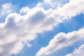 Puffy clouds sky shiny atmosphere Royalty Free Stock Photo