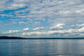 Puget sound cloudscape a layer of clouds float above the in washington state Royalty Free Stock Photo