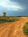 Puglian seaside torre coastal defences on the coast Royalty Free Stock Photo