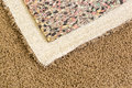 Pulled Back Carpet and Padding In Room Royalty Free Stock Photo