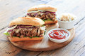 Pulled pork sandwich Royalty Free Stock Photo