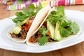 Pulled pork soft taco Royalty Free Stock Photo