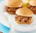 Pulled work sandwich sliders close up Stock Photography