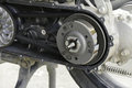 The pulley and belt of motorcycle Royalty Free Stock Photo