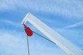 Pulley block. Detail of crane on passenger cruise tall ship sailing Royalty Free Stock Photo