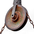 Pulley with chain Royalty Free Stock Photo
