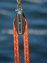 A pulley and a rope Royalty Free Stock Images