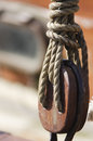 Pulley and rope Royalty Free Stock Photo