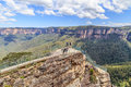 Pulpit rock lookout near blackheath in blue mountains national park Royalty Free Stock Photography