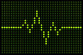 Pulse led display on a dot matrix board the line and the background dots are on separate layers Royalty Free Stock Photo