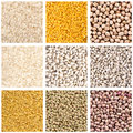 Pulses collection dried collage photo Royalty Free Stock Images