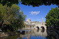 Pulteney bridge and the river avon in bath Stock Photo