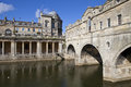 Pulteney bridge and the river avon in bath Stock Image