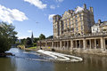 Pulteney weir in bath on the river avon somerset Stock Photography