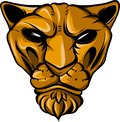 Puma face vector illustration flat style front side