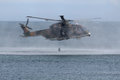 Puma helicopter rescue in a water mission Stock Images