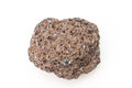 Pumice macro photo of isolated over white Royalty Free Stock Photos