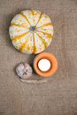Pumkin autumn decoration fall background border Royalty Free Stock Photo
